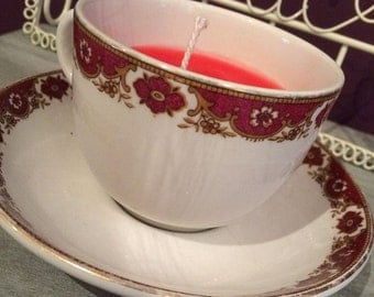 Jasmine Scented Candle in a Teacup
