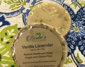 Vanilla Lavender Bath Soap - Natural, Vegan and Gluten Free
