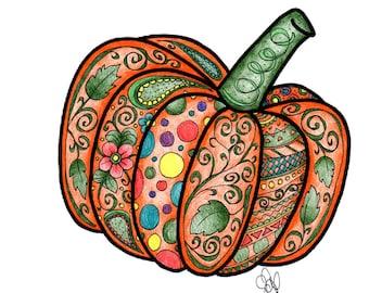 pumpkin coloring page!