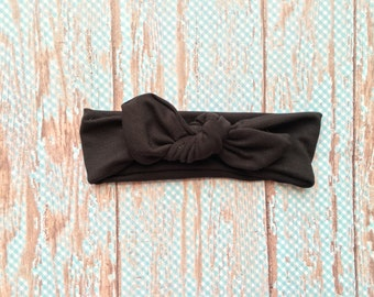 Black Top Knot Headband // Toddler Headband // Adult Headband