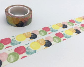 balloon washi tape 5M balloon confetti tape 5M colorful ball multi color circle deco sticker tape colorful circle round pattern tape gift