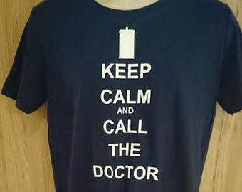 Doctor Who Keep Calm T-shirt/Tardis/Doctor Who Clothing/Whovians