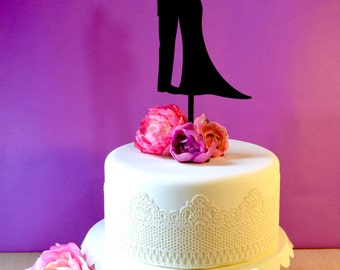 Wedding Cake Topper - Couple Silhouette Standing