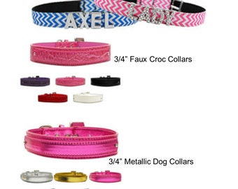 Personalized Large Dog Collars with Charms and Leash