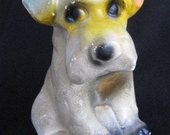 Vintage Carnival Prize Chalkware Dog 1930s / 40s