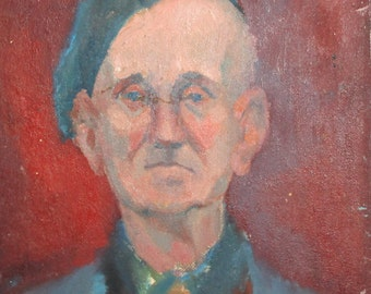 Vintage European oil painting portrait