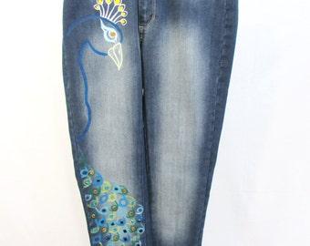 Peacock jeans pants