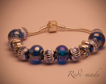 Bracelet module with blue beads (#259486)