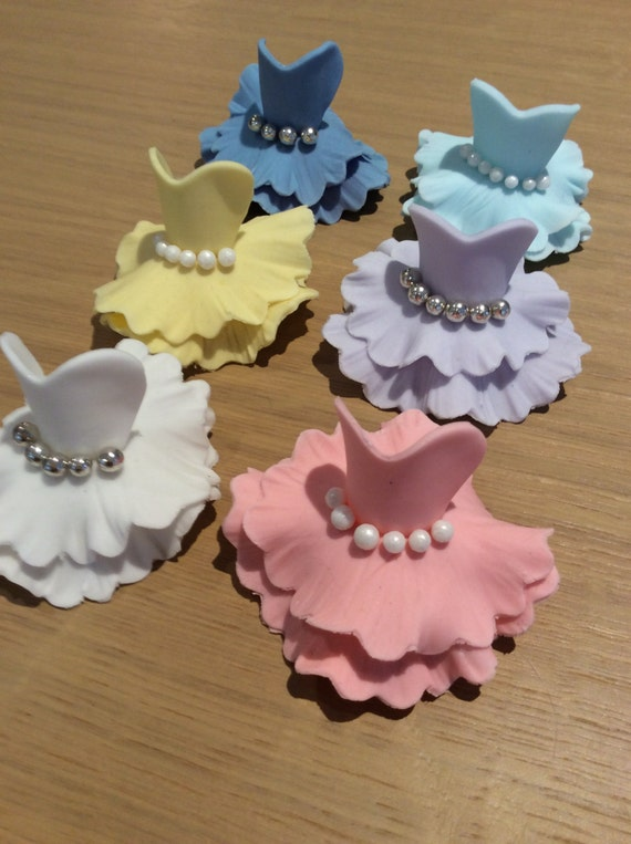 Ballerina Cupcake Toppers X 6