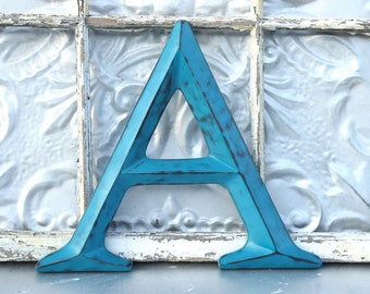 Letter A/ Capital A/ Wall Decor/ Wedding Photo Prop/ Wall Letter A/ Wedding Sign/ Custom Painted Family Initials/ Nursery Wall Decor