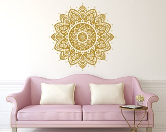 wall decal mandala vinyl sticker decals lotus flower home decor boho bohemian bedroom ornament moroccan pattern namaste yoga studio x113