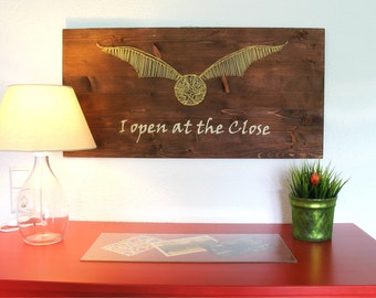 Harry Potter Golden Snitch I open at the close String Art Sign, Wall Art Decor