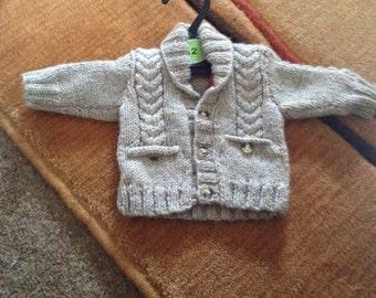 Baby boy cable cardigan