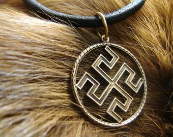 Bogovnik Slavic Pendant, Symbol, Pagan Jewelry, Norse jewelry, Slavic Amulet talisman, Pagan Pendant, protection symbol, Nordic talisman