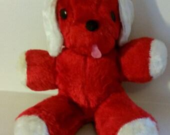 Vintage Dollcraft Red Plush Dog