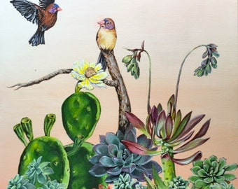 Succulents and Finches