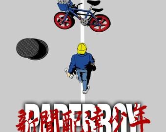 Paperboy - Paperboy Akira  Men's Unisex T-Shirt - Anime Gaming Parody Clothing