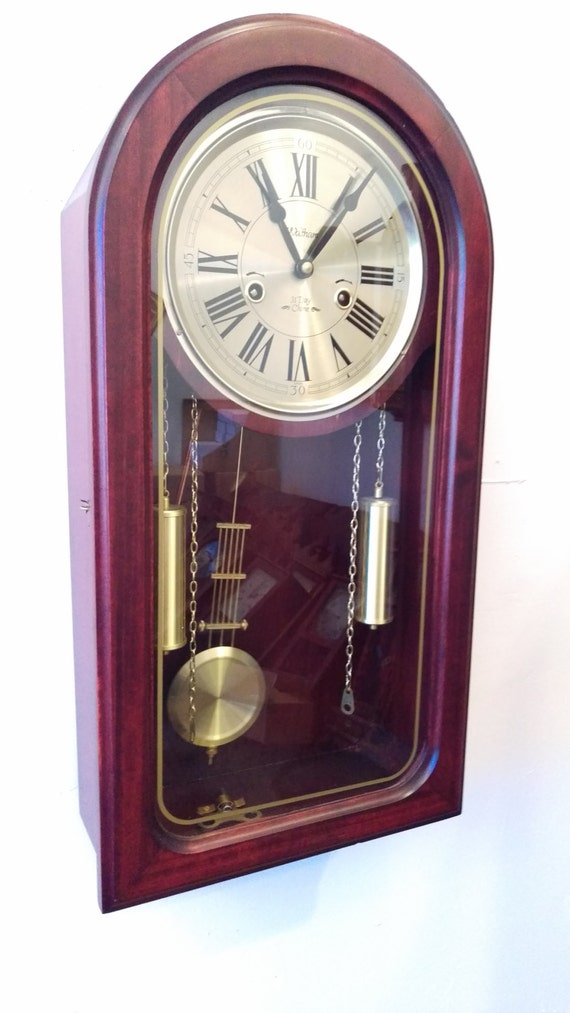 Restored Retro Waltham 31 Day Chiming Wall Clock