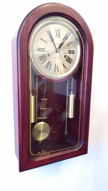 Restored Retro Waltham 31 Day Chiming Wall Clock