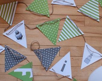 Fanions_Du Gâteau! & Bonne fête!_3 | décoration | fête | anniversaire | fanions | impression | flag banner | birthday | decoration | print