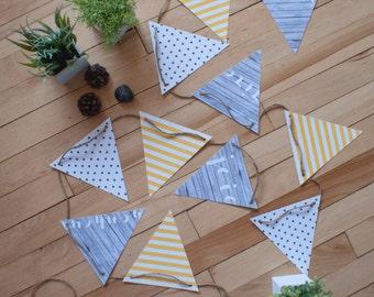Fanions_Dans Les Bois   banderole   décoration   bois   fanions   festif   impression   flag banner   flag   decoration   print