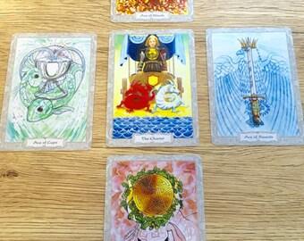 Elemental 5 Card Hand-written Tarot Reading - Snail Mail Tarot Reading