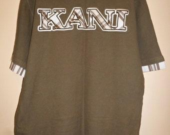 KARL KANI shirt vintage hip-hop shirt, green shirt, 90s hip-hop clothing, 1990s hip hop shirt, OG, gangsta rap, size L