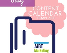 Blog Content Calendar Easy to use  Excel Template