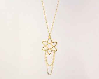 SALE - Science Atom Necklace ~ Gold Necklace - Discounted prices - trend jewelry