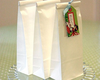 White Paper Bags - Poly Lined