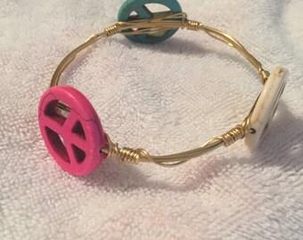 Wire Wrapped Bangle Bracelet