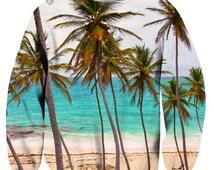Tropical Paradise Sweatshirt - FREE SHIPPING - 3D Sublimation Printing – hoodie / sweatshirt / crewneck / jumper top - Men & Women