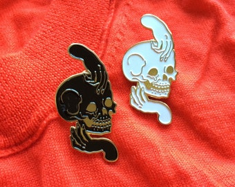 Skull and Hands Vanity Pin