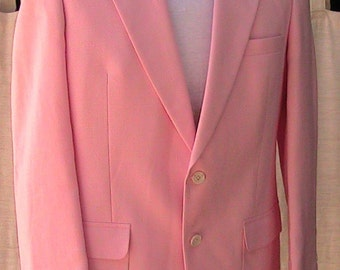 Vintage LONDON FOG Pink Blazer - a Classic 42S Made in Ireland