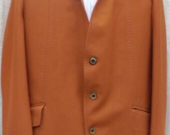 VINTAGE 1970s MENS 2PC caramel color SUIT