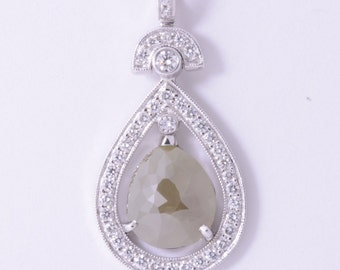 M1470 Olive Tear Drop Pendant
