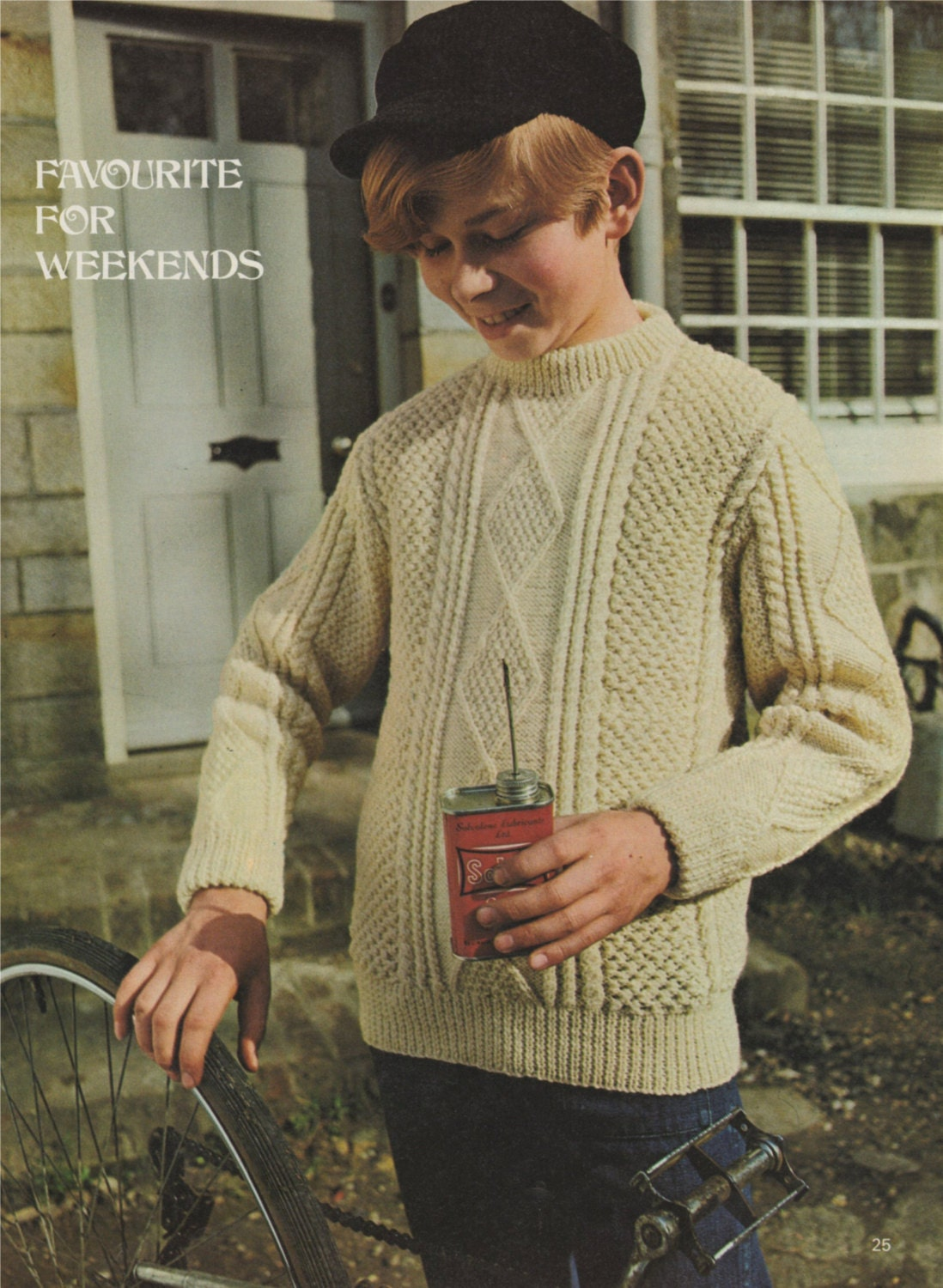 Childrens Aran Style Sweater Pdf Knitting Pattern Boy Or Girl 30 32 34 Inch Chest Jumper