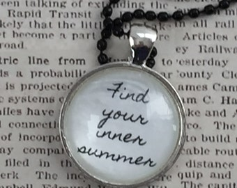 Glass Pendant Necklace - Find Your Inner Summer