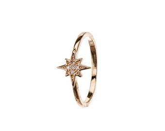 Tiny Star Ring,Gold Ring,North Star ring,gold plated Ring,Star Ring,Star Jewelry,Zirconia Ring,Sterling Silver Zirconia Ring,mini star ring