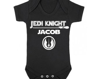 Star Wars Personalized Onesie / Personalized Jedi Baby Onesie / Jedi Knight Personalized Baby  / Star Wars Baby Shower Gift Boy or Girl