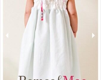 Dress Sewing Pattern, Criss Cross Back, Baby, Infants, Girls, Tutorial, Instructions, PDF, Download, Phoebe
