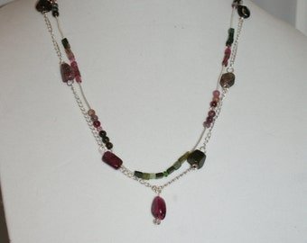 Tourmaline and Sterling Silver Necklace