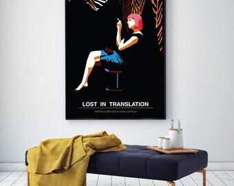 Lost in Translation, Scarlett Johansson, Minimal Movie Poster.