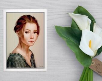 Custom women's portraits. Digital art.