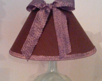 Chocolate shade with satin ribbon