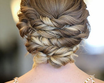 Soft Twisted Updo Hair Tutorial and Video Tutorial
