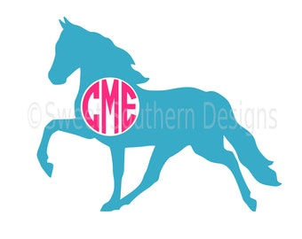 Horse monogram SVG instant download design for cricut or silhouette