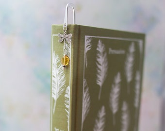 Outlander Silver Dragonfly Bookmark - Bookish Gift - Book Lover Gift