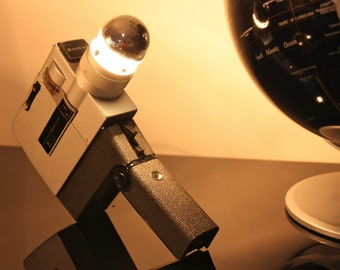 Table lamp, vintage Sankyo camera Super CM 60 years '