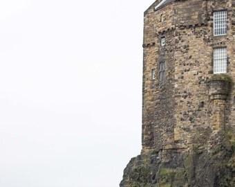 Edinburgh, Castle, Scotland, Stone, Negative Space, Travel, Print, Castle Rock, Photograph, Wall Art, Fine Art